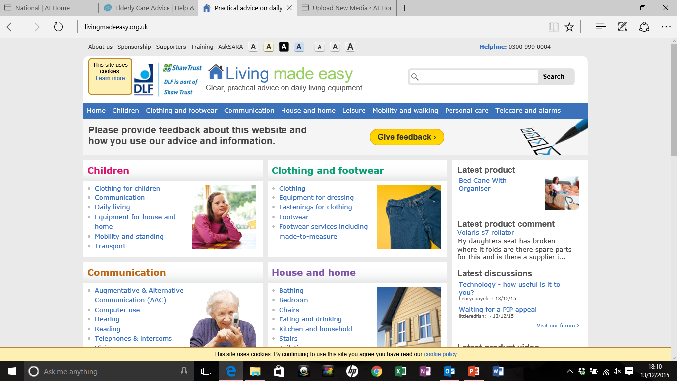 living-made-easy-website-screenshot